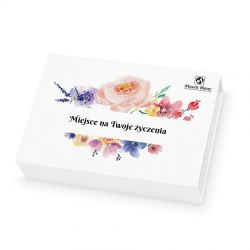 Prezent dla kobiety Chocolate Box Mini White z Twoimi życzeniami
