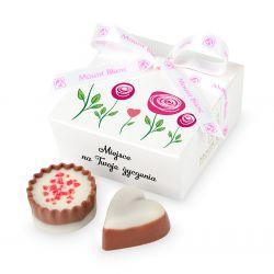 Czekoladki dla kobiety Mini Ballotin White no.2 z Twoimi życzeniami