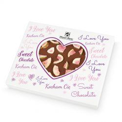 Chocolate Heart Box no.2 z okazji Walentynek. Czekoladowe serce z mlecznej czekolady z figami