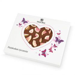 Chocolate Heart Box no.4. Czekoladowe serce z mlecznej czekolady z figami na Walentynki