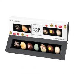 Czekoladki jajeczka Easter Elegance White no.2 z logo firmy