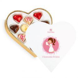 Prezent na komunię dla dziewczynki Sweet Heart White Mini