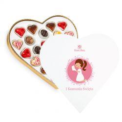 Prezent dla dziewczynki na komunie Sweet Heart White Maxi