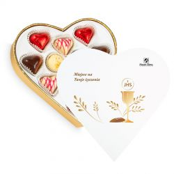 Prezent komunijny Sweet Heart White Mini z Twoimi życzeniami