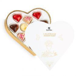 Czekoladki Sweet Heart White Mini z okazji Pierwszej Komunii Świętej