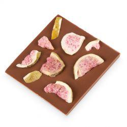 Mleczna czekolada z figą 35g, podarunek dla gości weselnych