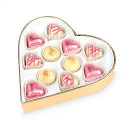 Czekoladki Sweet Heart White Mini Z okazji Ślubu
