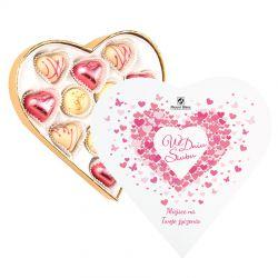 Prezent dla Młodej Pary Sweet Heart White Mini z Twoimi życzeniami