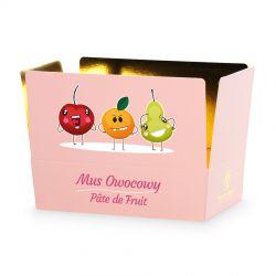 Mini Ballotin Pink no.3 z musem owocowym, słodkości dla dzieci