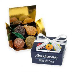 Mini Ballotin Blue no.2 z pâte de fruit, prezent dla dzieci