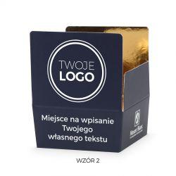 Czekoladki dla firm Mini Ballotin Blue no.2 z Twoim logo