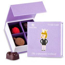 Czekoladki z logo Finesse Lavender no.1 Dla wspaniałej szefowej