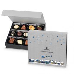 Bombonierka na Święta Chocolate Box Medium Silver