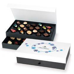 Czekoladowy prezent świąteczny Chocolate Tower White no.1