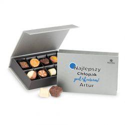 Czekoladki dla chłopaka Chocolate Box Mini Silver Najlepszy chłopak
