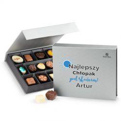 Czekoladowy prezent na Dzień Chłopaka Chocolate Box Medium Silver